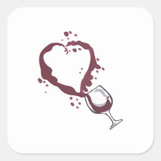 SPILLED WINE SQUARE STICKER