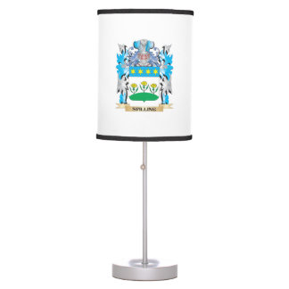 Spilling Coat of Arms - Family Crest Table Lamps