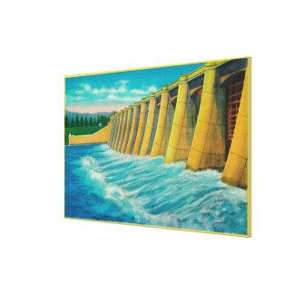 Spillway Gates on Bonneville Dam Gallery Wrap Canvas