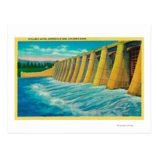 Spillway Gates on Bonneville Dam Post Card