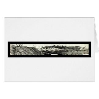 Spillway Panama Canal Photo 1913 Card
