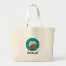 Spin Class Large Tote Bag at Zazzle