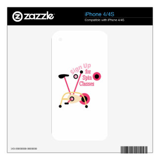 Spin Classes Skins For The iPhone 4S