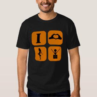 Spin DJ I love T Shirt