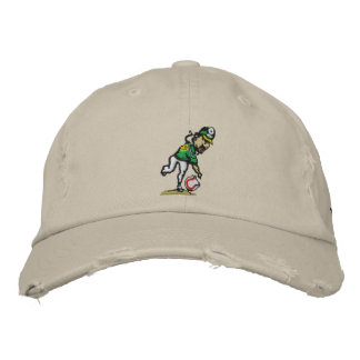Spin Doctor Embroidered Distressed Cap Embroidered Baseball Caps