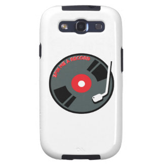 Spin Me A Record Samsung Galaxy SIII Cases