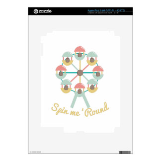 Spin Me Round iPad 3 Decal