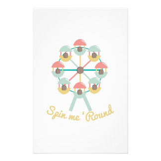 Spin Me Round Stationery Design