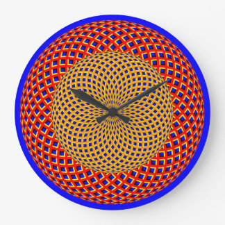 Spin Spheres Optical Illusion Wall Clock