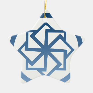 Spin Star Double-Sided Star Ceramic Christmas Ornament