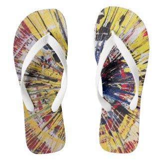 Spin Street Art Flip Flops