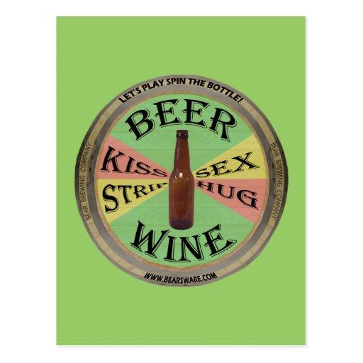 Spin The Beer Bottle Postcard
