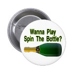 Spin The Bottle Pinback Button