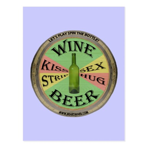 Spin The Wine Bottle Post Card