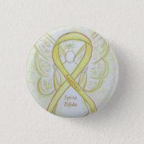 Spina Bifida Angel Awareness Ribbon Pins