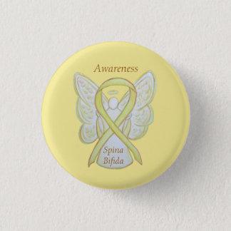 Spina Bifida Angel Yellow Awareness Ribbon Pins