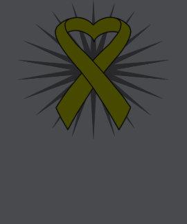 Spina Bifida Awareness Heart Ribbon T-shirt