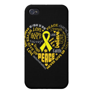 Spina Bifida Awareness Heart Words iPhone 4/4S Covers