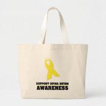Spina Bifida Awareness Large Tote Bag