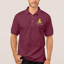 Spina Bifida Awareness Ribbon with Swans Polo Shirt