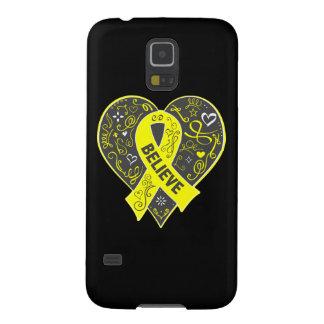 Spina Bifida Believe Ribbon Heart Galaxy S5 Case