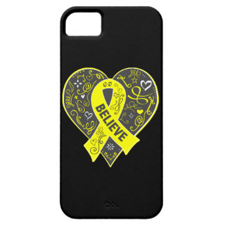 Spina Bifida Believe Ribbon Heart iPhone 5 Cover