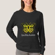 Spina Bifida Butterfly Awareness Ribbon T-Shirt