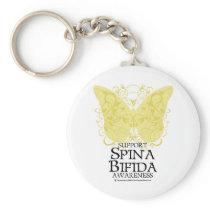 Spina Bifida Butterfly Keychain