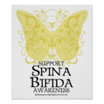 Spina Bifida Butterfly Poster