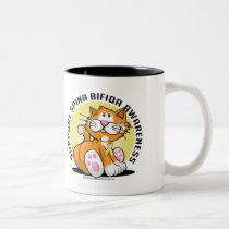Spina Bifida Cat Two-Tone Coffee Mug