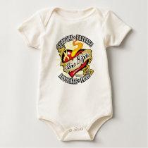Spina Bifida Classic Heart Baby Bodysuit
