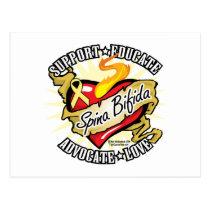 Spina Bifida Classic Heart Postcard