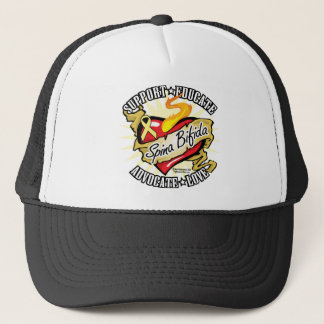 Spina Bifida Classic Heart Trucker Hat