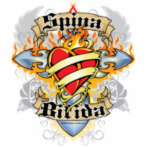 Spina Bifida Cross & Heart Cutout