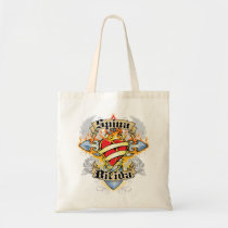Spina Bifida Cross & Heart Tote Bag
