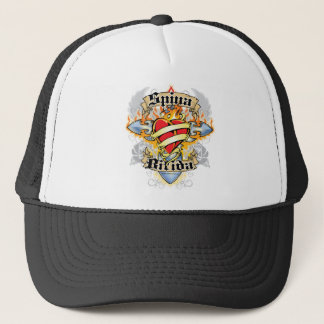 Spina Bifida Cross & Heart Trucker Hat