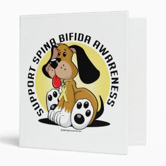 Spina Bifida Dog 3 Ring Binder