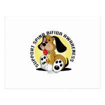 Spina Bifida Dog Postcard