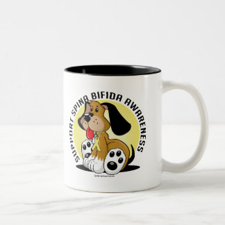 Spina Bifida Dog Two-Tone Coffee Mug
