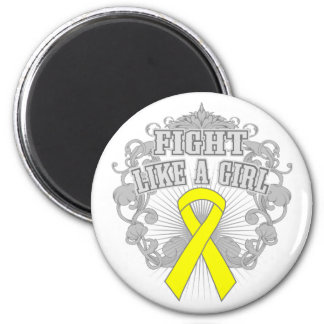 Spina Bifida Fight Like A Girl Fleurish 2 Inch Round Magnet