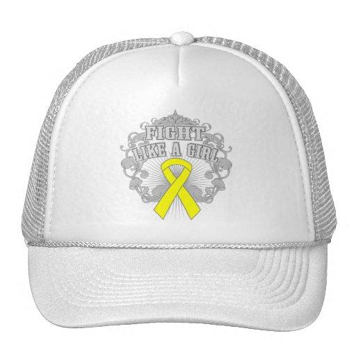 Spina Bifida Fight Like A Girl Fleurish Trucker Hat