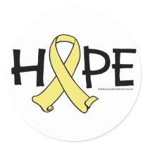 Spina Bifida HOPE 2 Classic Round Sticker