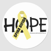 Spina Bifida Hope Classic Round Sticker