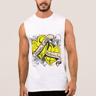 Spina Bifida Hope Faith Dual Hearts Sleeveless T-shirt