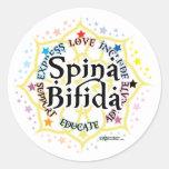 Spina Bifida Lotus Classic Round Sticker