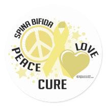 Spina Bifida PLC Classic Round Sticker