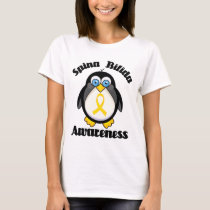 Spina Bifida Support Penguin Ladies Tee