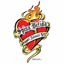 Spina Bifida Tattoo Heart Statuette