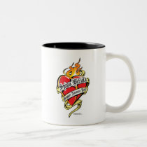 Spina Bifida Tattoo Heart Two-Tone Coffee Mug