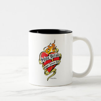 Spina Bifida Tattoo Heart Two-Tone Coffee Mug
